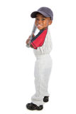 2 year old baby boy standing holding a baseball bat Royalty Free Stock Photos