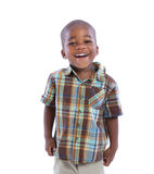 2 year old baby boy standing wear casual outfit Stock Photo