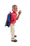 3 year old baby boy standing wear casual outfit Stock Images