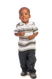 2 year old baby boy standing wear casual outfit Royalty Free Stock Image