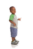 2 year old baby boy standing wear casual outfit Royalty Free Stock Images