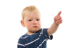 2-year-old boy crying Stock Photography