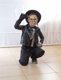 8 year old boy dressed as a zombie for Halloween / Purim Stock Image