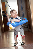 Year-old boy learning to walk. In jumpers Royalty Free Stock Photography