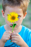 5 year old boy outdoor Royalty Free Stock Photo