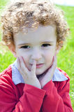 3 year old boy's facial expression Royalty Free Stock Photo