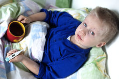 Boy with chickenpox Stock Photography