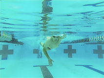76 year old competitive swimmer Royalty Free Stock Image