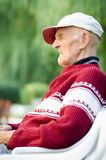 90 year old elder senior man Stock Image