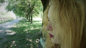 Female teen side face profile royalty free stock photography