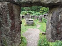 Entry to the Druid`s Temple, Masham, Yorkshire royalty free stock photo