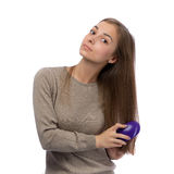 20 year old girl is combed Royalty Free Stock Photography