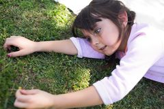 Girl in nature stock photos