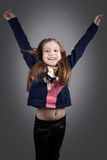 8 year old girl Royalty Free Stock Images