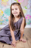 8 year old girl Stock Photo
