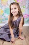 8 year old girl Stock Photo