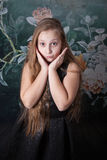 10 year old girl portrait Stock Photography