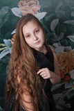 10 year old girl portrait Royalty Free Stock Image