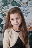 8 year old girl portrait in studio Royalty Free Stock Images