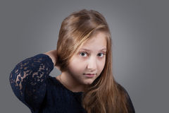 10 year old girl Royalty Free Stock Photo
