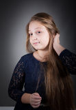 10 year old girl Stock Photo