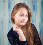 10 year old girl Royalty Free Stock Image