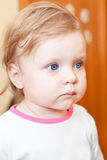 Year-old little girl closeup portrair Stock Image