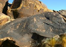 2,000 year old Petroglyphs. Petroglyphs in Southern Utah Deserts Stock Photography