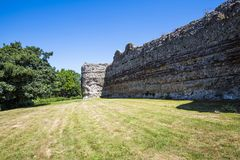Pevensey Castle, East Sussex, England stock photo