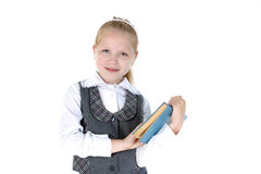 8 year old school girl Stock Photos