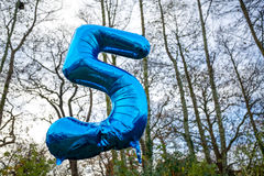 5 year old today balloon Stock Photo