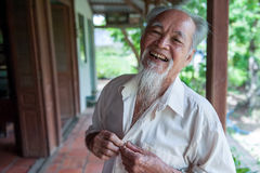 89-year-old Vietnamese smile Royalty Free Stock Photos