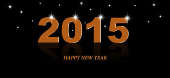 2015 year orange color text design. The text 2015 with star are design for all purpose Royalty Free Stock Images