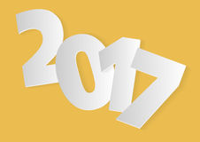 Year 2017 orange. New year 2017 over an orange background Stock Photography