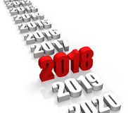 Year 2018 Stock Images