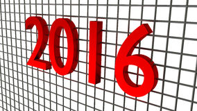 Year 2016 over wire background Royalty Free Stock Photo