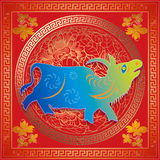Year painting of china Royalty Free Stock Photo