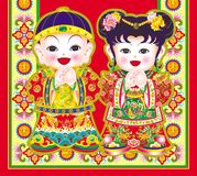 Year painting of china Royalty Free Stock Image