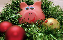 Year a pig. New Year's toys for One year a pig Royalty Free Stock Photo