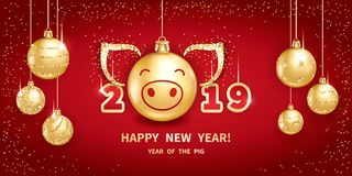 2019 Year of the PIG stock photos