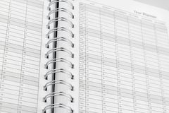 Year planner Stock Photo
