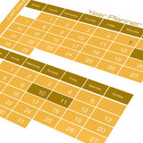 Year planner Calendar. 2D digital art Royalty Free Stock Images