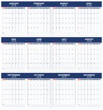 Year 2018 planner calendar vector illustration Royalty Free Stock Photos