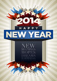 Year 2014 Poster. 2014 New Year Poster Design Template Stock Image