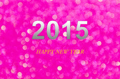 Year 2015 purple abstract light background (bokeh). This image is design for all purpost Royalty Free Stock Photography