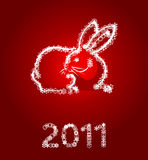 Year of a rabbit Royalty Free Stock Photo