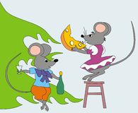 Year of the rat. Illustration to subjects of the year of the rat Royalty Free Stock Photography