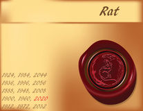 Year of the Rat - background Stock Photography