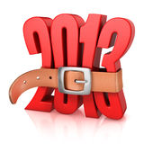 2013 year of recession. 3d concept Stock Photography