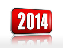 Year 2014 red banner vector illustration